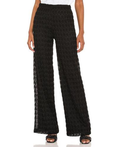 Текстильные черные брюки на резинке Karina Grimaldi