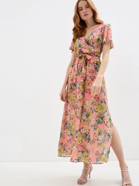 Платье розовое прямое Naf Naf
