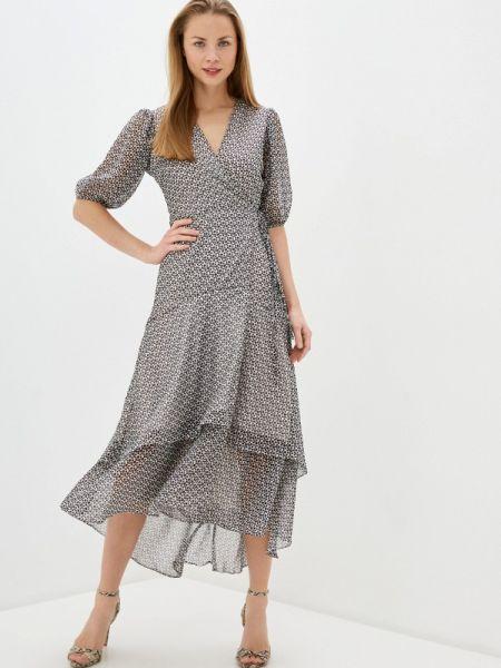 Платье с запахом серое Imperial