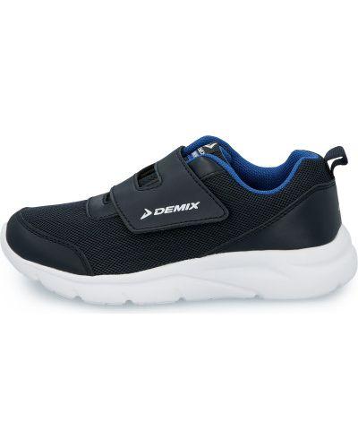 Облегченные синие кожаные кроссовки Demix