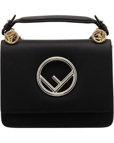 Кожаная сумка через плечо на цепочке Fendi