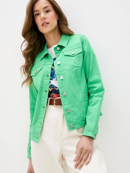 Зеленая джинсовая куртка Sh