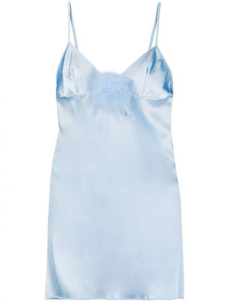Koszula nocna z jedwabiu - niebieska Gilda & Pearl
