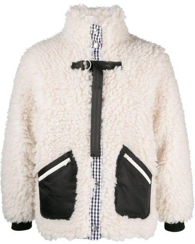 Акриловая длинная куртка с карманами с манжетами Sandy Liang