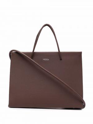 Brązowa torba na ramię skórzana Medea
