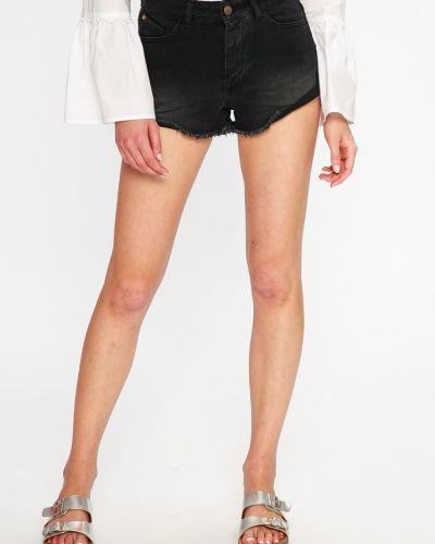 Джинсовые шорты черные с карманами Femi Stories