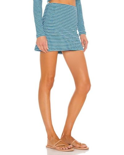 Niebieska spódnica na plażę z nylonu Frankies Bikinis