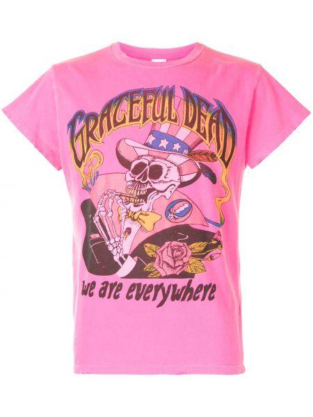 Różowy t-shirt bawełniany krótki rękaw Madeworn