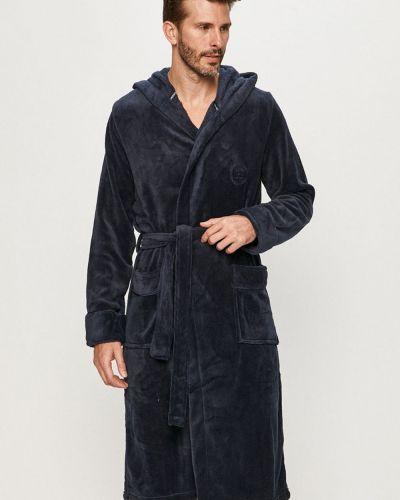 Синий теплый халат Henderson