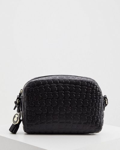 Черная сумка через плечо из натуральной кожи Tous