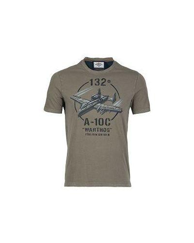 Футболка зеленый Aeronautica Militare