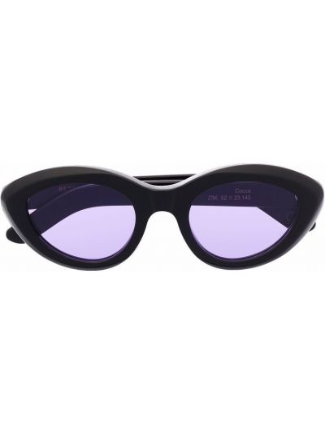 Солнцезащитные очки металлические - черные Retrosuperfuture