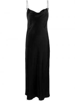 Satynowa czarna sukienka Dorothee Schumacher