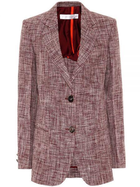 Фиолетовый пиджак Victoria Beckham