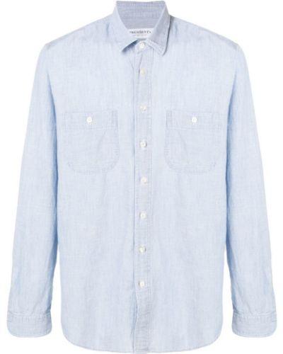 Рубашка с длинным рукавом с карманами синий President's
