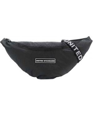 Черная поясная сумка с пряжкой United Standard