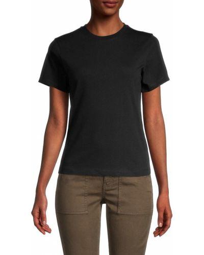 T-shirt bawełniana - czarna Helmut Lang