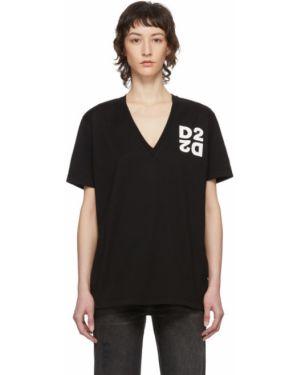 Рубашка с коротким рукавом в клетку с принтом Dsquared2