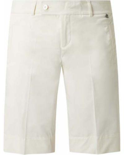 Białe bermudy bawełniane Bogner