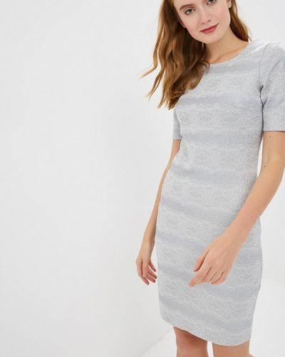 Платье осеннее серебряный Zarina