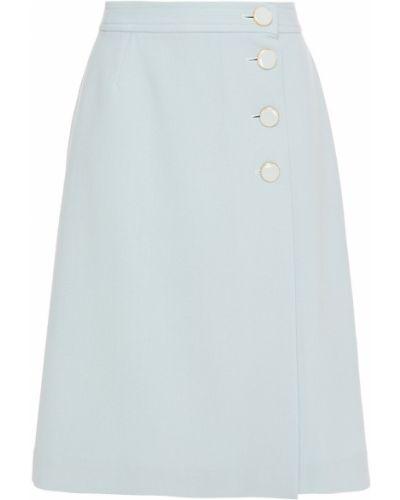 Шерстяная юбка - синяя Goat