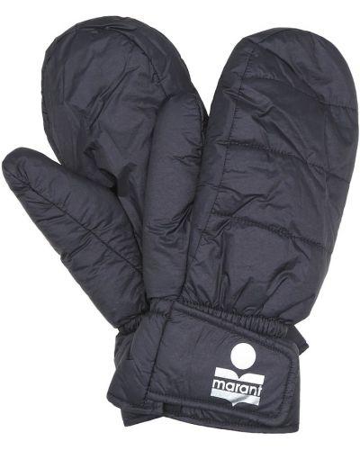 Nylon czarny rękawiczki Isabel Marant