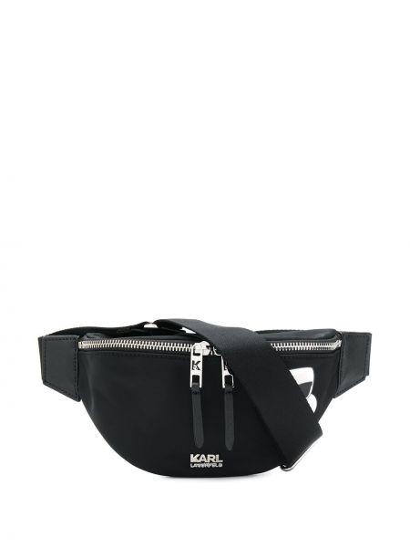 Поясная сумка на плечо черная Karl Lagerfeld