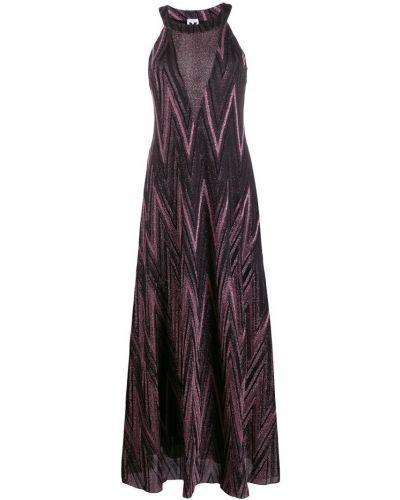 Платье макси розовое с завышенной талией Missoni