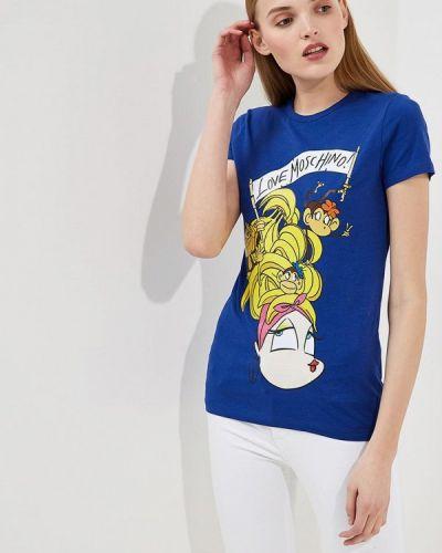 Синяя футболка Love Moschino