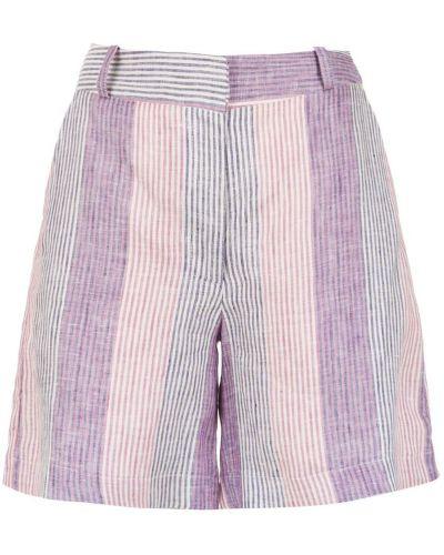 Однобортные розовые шорты с карманами Alcaçuz