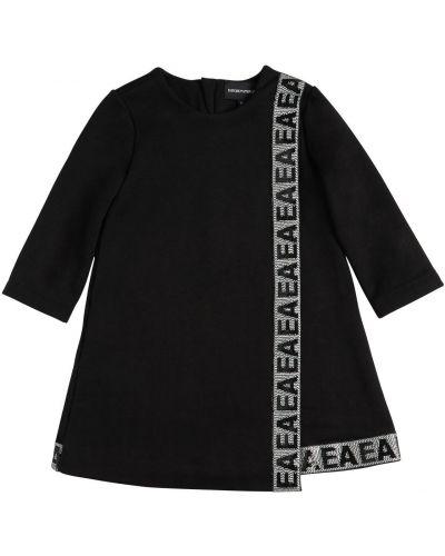 Платье с пайетками - черное Emporio Armani