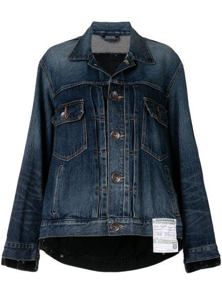 Синяя джинсовая куртка оверсайз с воротником Maison Mihara Yasuhiro