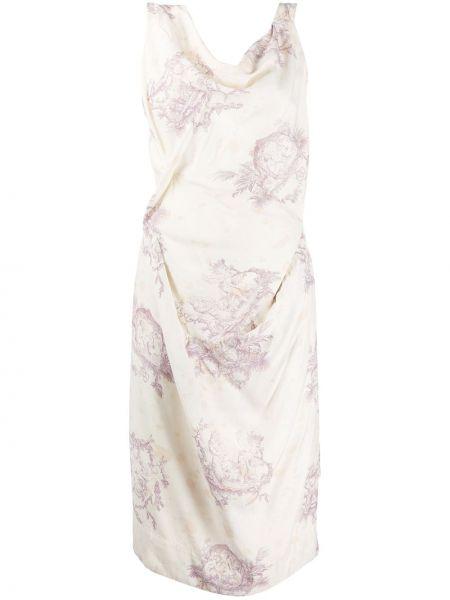 Приталенное драповое платье миди с драпировкой винтажное Vivienne Westwood Pre-owned