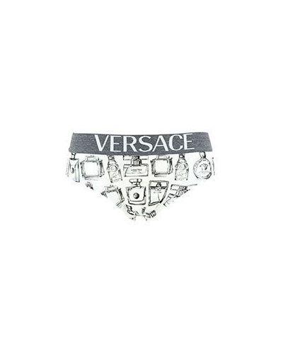 Белые трусы хлопковые Versace