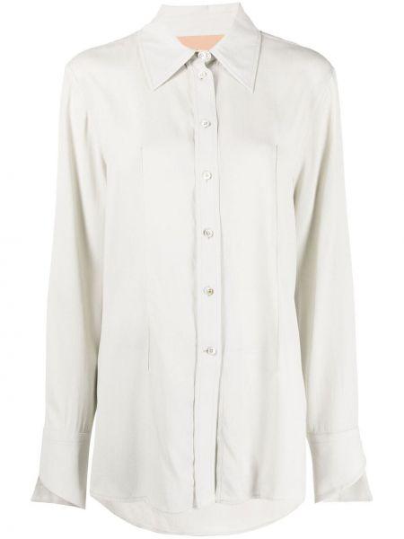 Классическая рубашка с воротником на пуговицах из вискозы Ssheena