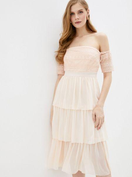 Платье розовое с открытыми плечами Little Mistress