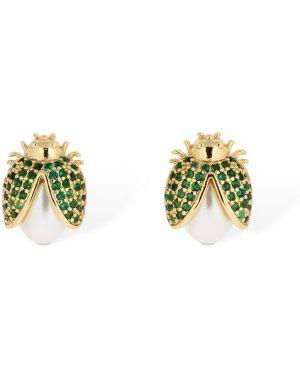Złote kolczyki sztyfty perły Camila Carril