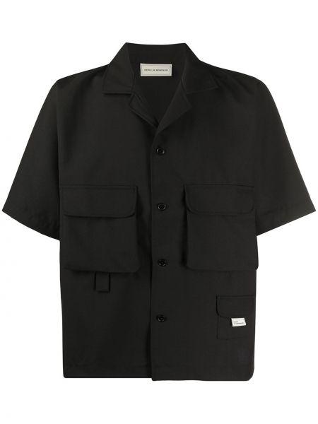 Czarna koszula krótki rękaw oversize Drole De Monsieur