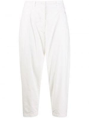 Хлопковые белые зауженные укороченные брюки Casey Casey