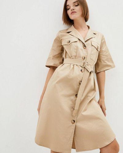 Бежевое платье 7arrows