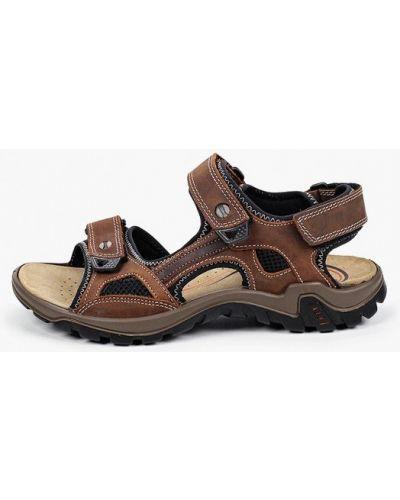 Коричневые кожаные сандалии Salamander