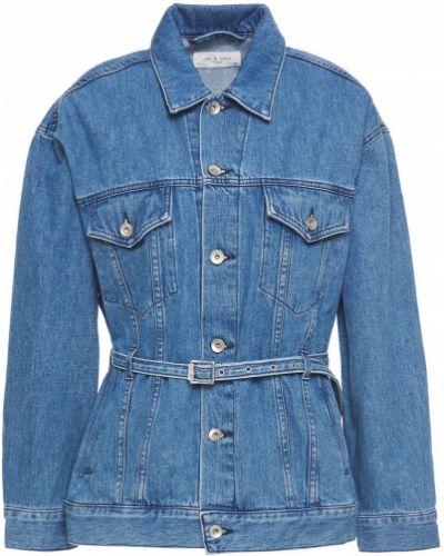 Ватная синяя джинсовая куртка с поясом Rag & Bone