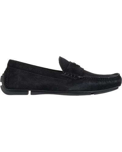 Черные кожаные мокасины Emporio Armani