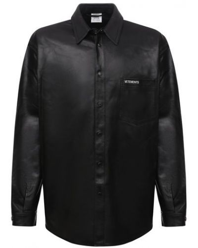 Черная французская рубашка Vetements