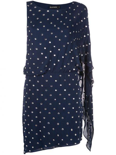 Асимметричное платье мини без рукавов с вырезом эластичное Haney