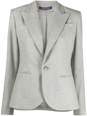 Однобортный малиновый удлиненный пиджак с карманами Ralph Lauren Purple Label