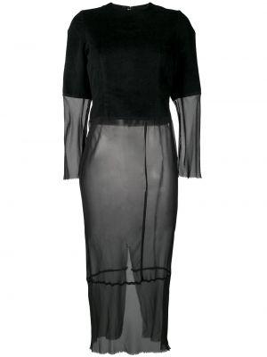 Платье миди винтажная с прозрачными рукавами Comme Des Garçons Pre-owned