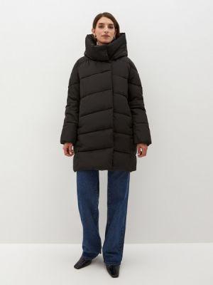 Черная куртка из полиэстера Zarina