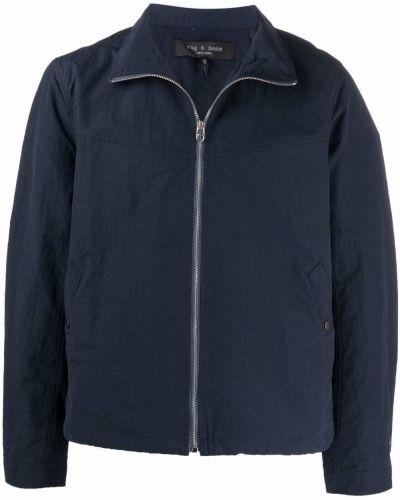 Niebieska kurtka z nylonu z długimi rękawami Rag & Bone