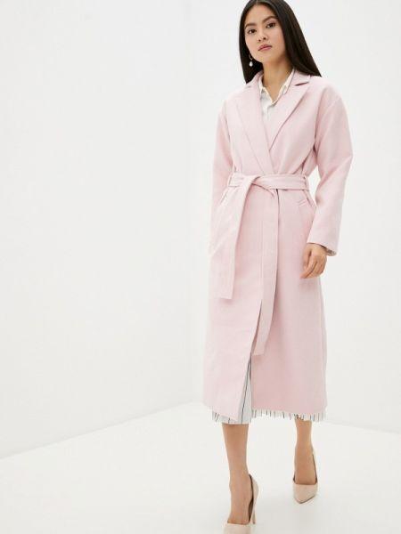 Розовое пальто с капюшоном Toryz